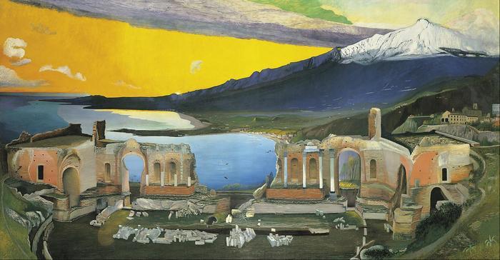 A taorminai görög színház romjai (1904-1905), Csontváry Kosztka Tivadar