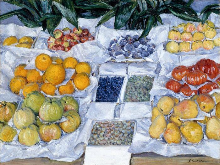 Gyümölcsös stand, Gustave Caillebotte