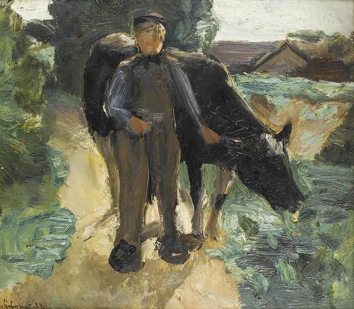 Paraszt és tehene, Max Liebermann