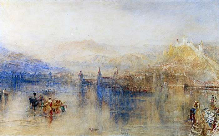 Luzern látképe (színverzió 1), William Turner