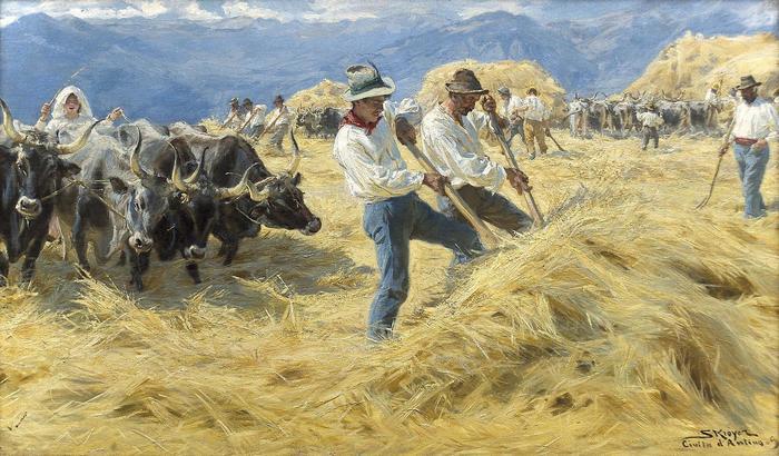 Tærskning i Abruzzerne, Peder Severin Kroyer