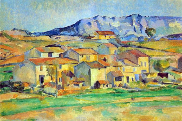 A Sainte- Victoire hegy, Gardenne környékéről nézve, Paul Cézanne