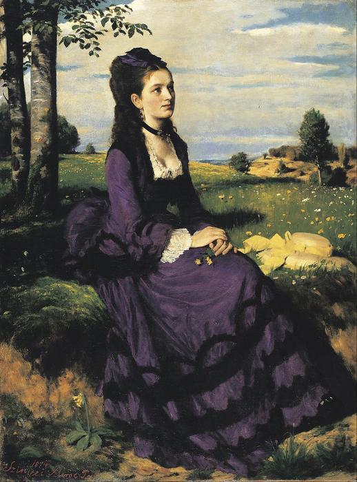 Lilaruhás nő (1874), Szinyei Merse Pál