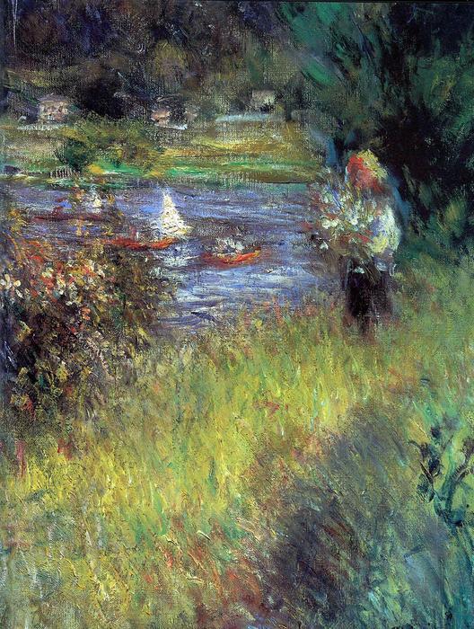 A Szajna Chatou-nál - részlet, Pierre Auguste Renoir