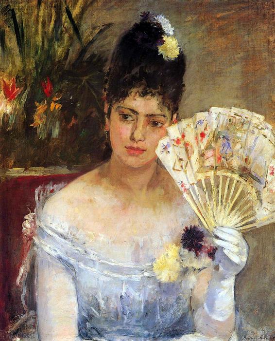 Bálban - Nő legyezővel, Berthe Morisot