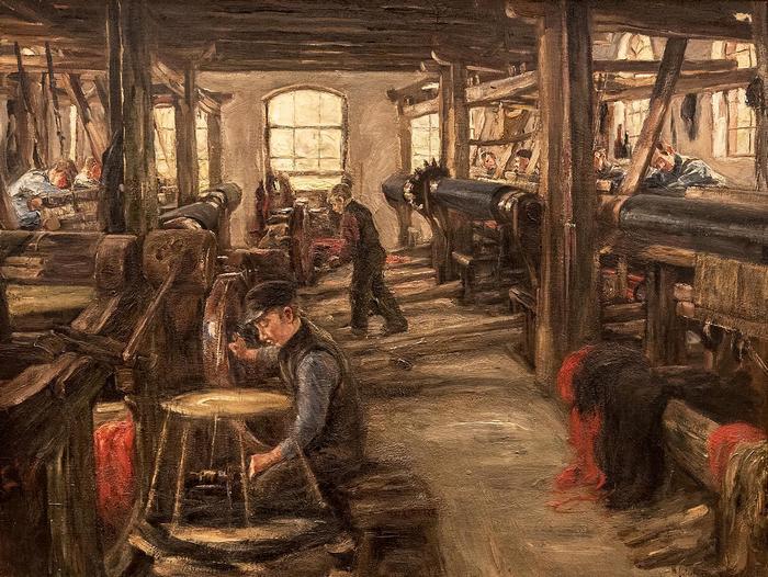 Szövőszékek Larenben (1897), Max Liebermann