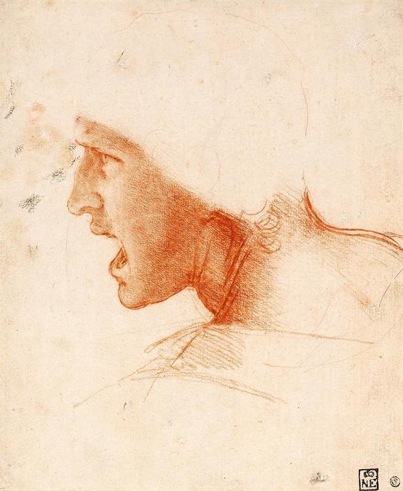 Harcos feje, tanulmány, Leonardo da Vinci
