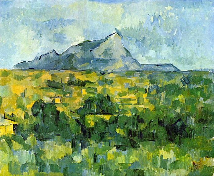 A Sainte- Victoire hegy, Paul Cézanne