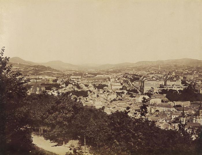 Kilátás a Tabán, Krisztinaváros és a budai Vár felé (1903), FORTEPAN