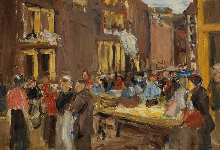 Zsidónegyed Amszterdamban (1905), Max Liebermann