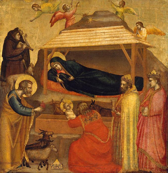 A Napkeleti Bölcsek köszöntik a kis Jézust, Giotto di Bondone
