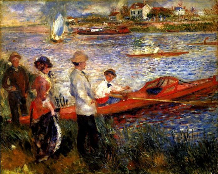Evezősök Chatou-ból, Pierre Auguste Renoir