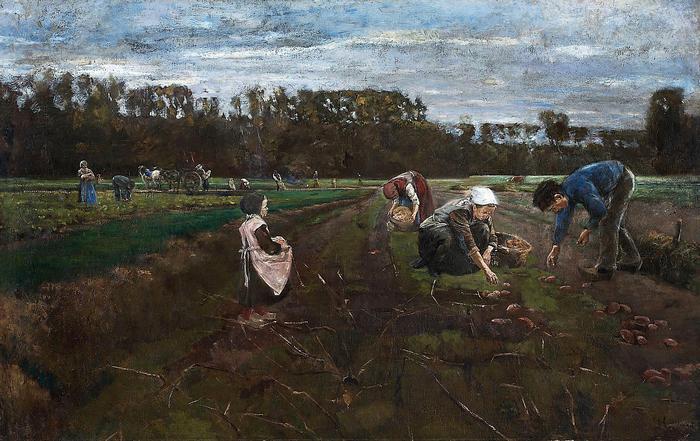 Burgonyaszedők (1875), Max Liebermann