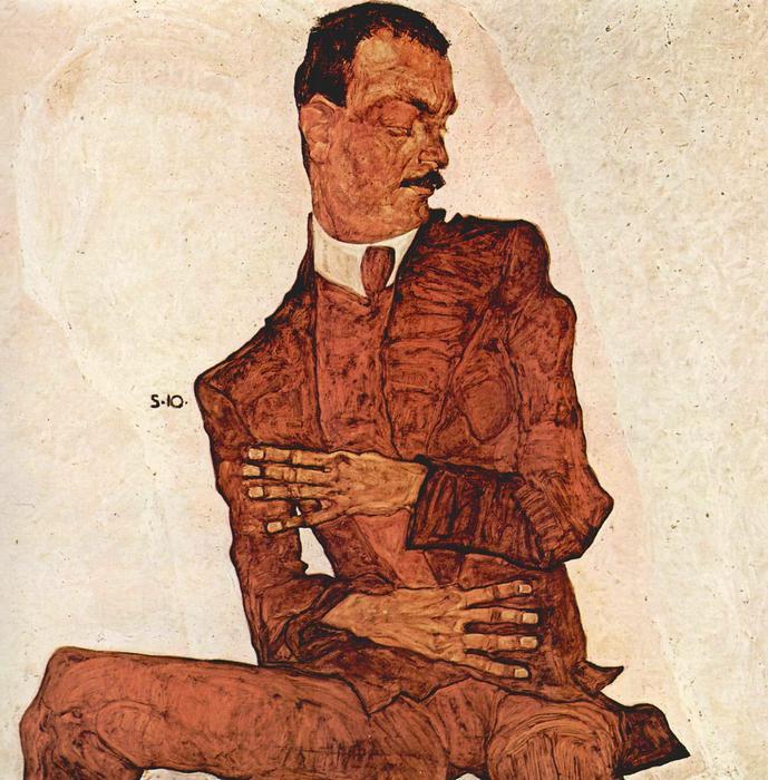 Arthur Rossler portréja, Egon Schiele