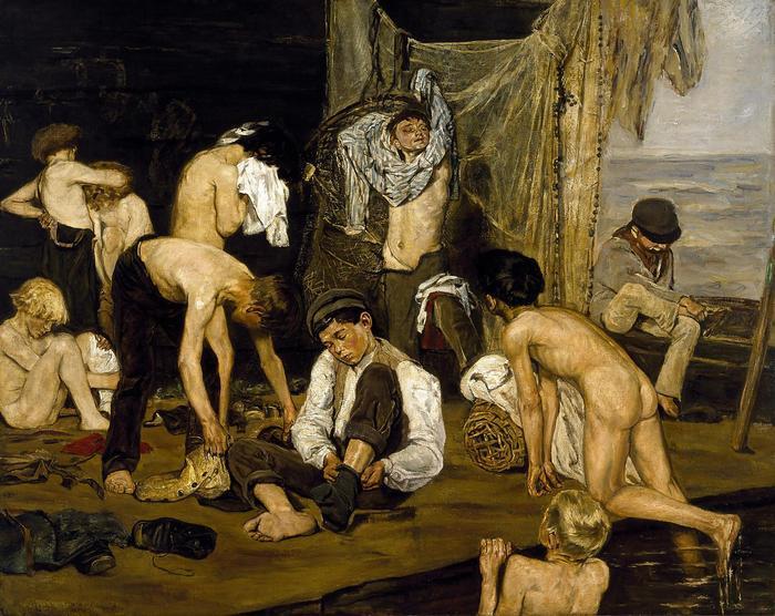Fürdés után, Max Liebermann