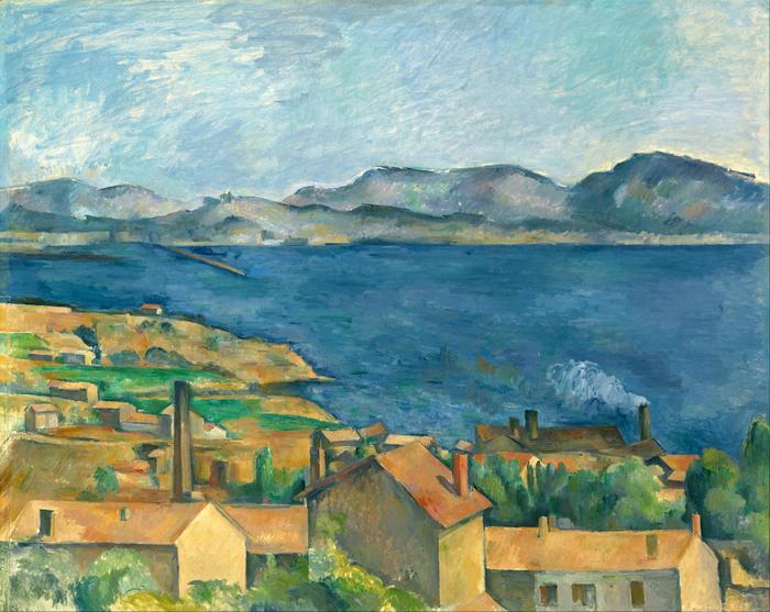 A marseille-i öböl az Estaque-ról nézve, Paul Cézanne