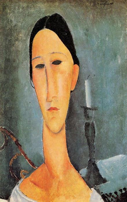 Anna Zborowska portréja gyertyával, Modigliani