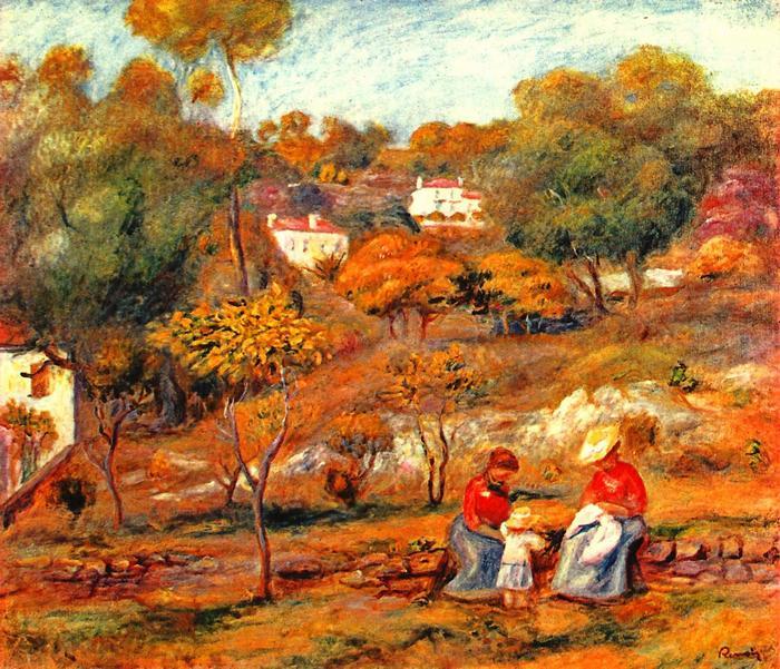 Cagnes-i tájkép, Pierre Auguste Renoir