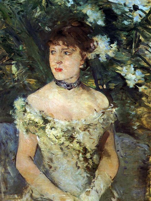 Fiatal nő báli ruhában, Berthe Morisot