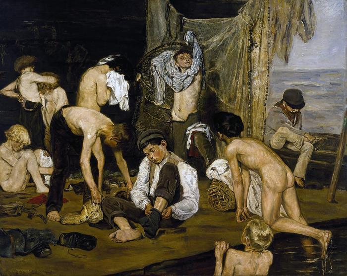 Fürdés után (színverzió 1.), Max Liebermann