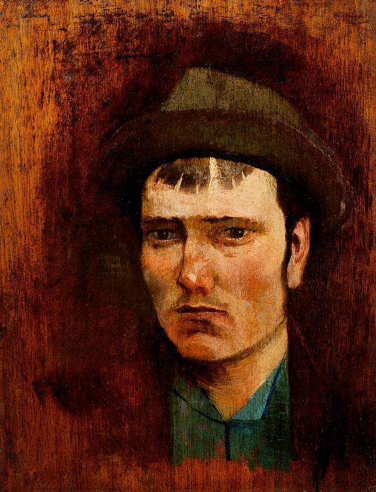 Fiatal fiú kalapban, Mednyánszky László