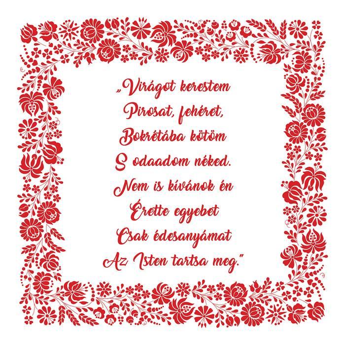 Házi áldás Anyák-napjára, Virágot kerestem... (Édesanya),