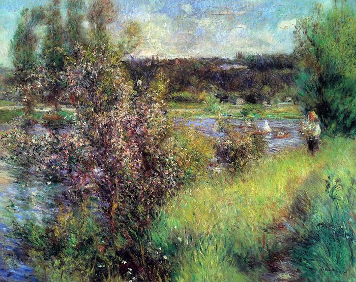 A Szajna Chatou-nál, Pierre Auguste Renoir