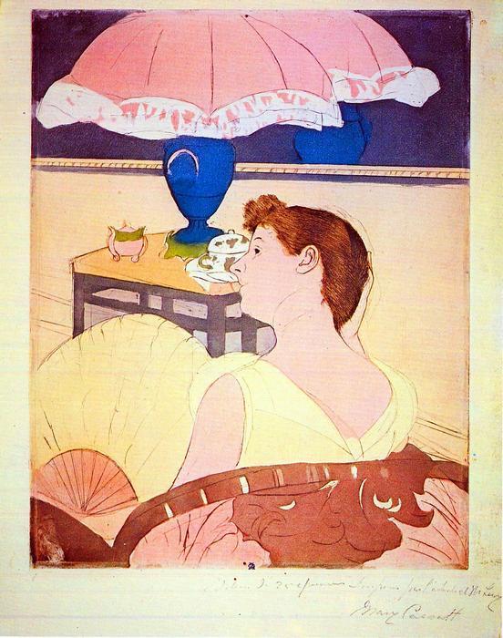 A lámpa, Mary Cassatt