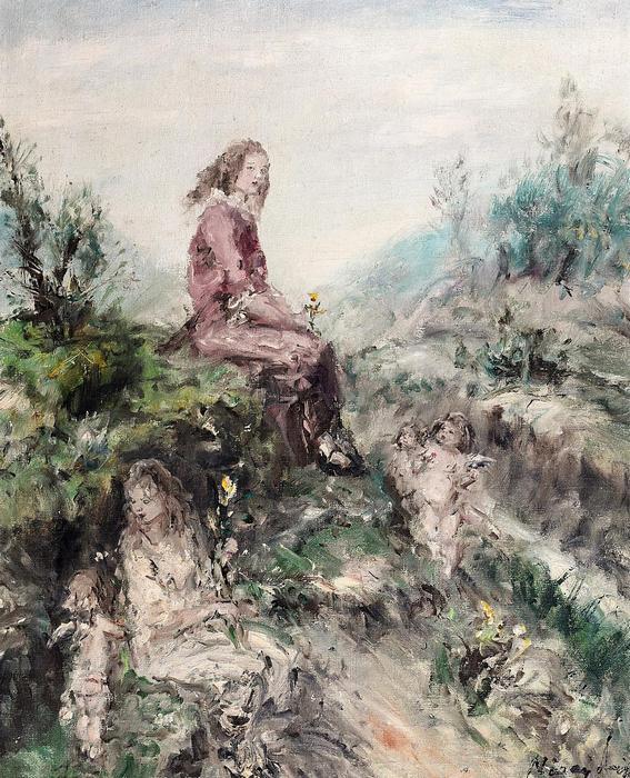 Virágszedő gyerekek, Náray Aurél
