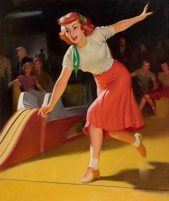 Bowlingozó lány, Pin-Up alkotók