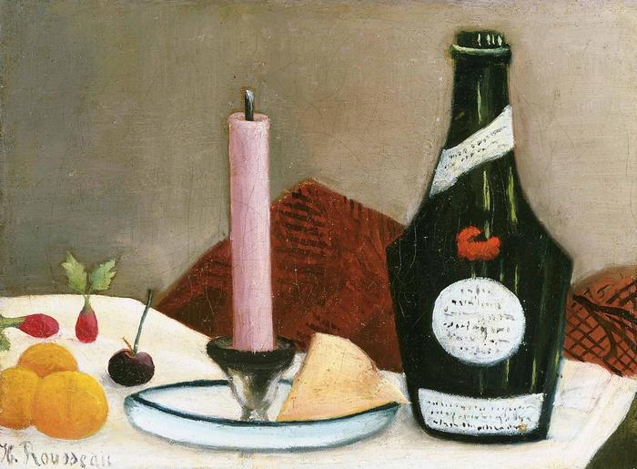 Rózsaszín gyertya, Henri Rousseau