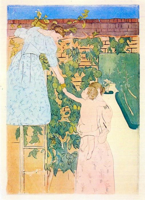 Gyümölcsszedés, Mary Cassatt