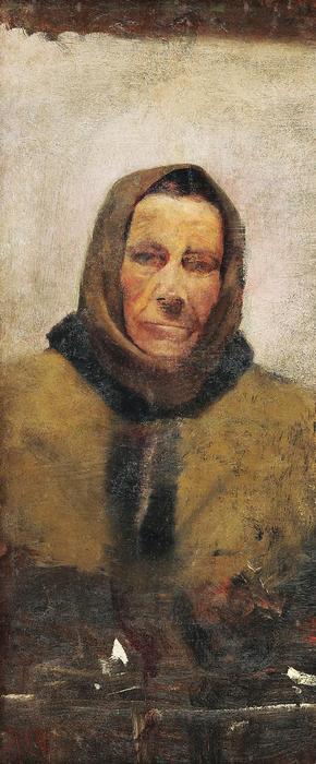 Idős asszony portréja, Mednyánszky László
