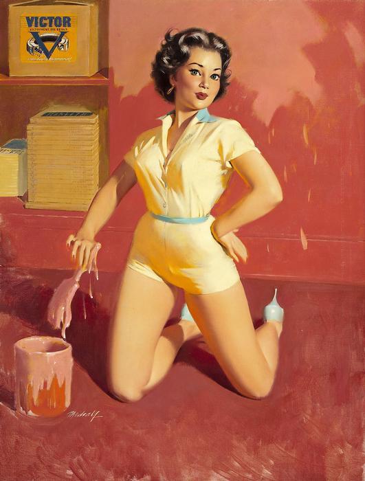 Victor Oil illusztráció, Pin-Up alkotók