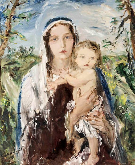 Madonna gyermekével, Náray Aurél