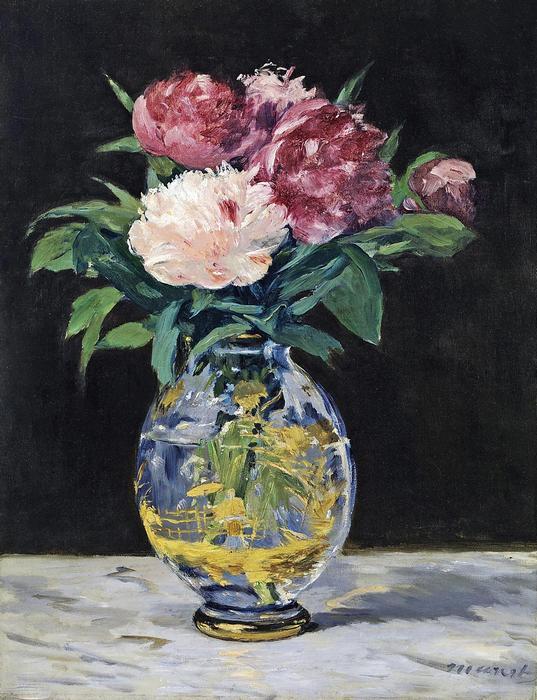 Pünkösdi rózsák vázában, Edouard Manet