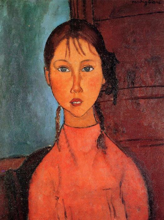 Lány copffal, Modigliani