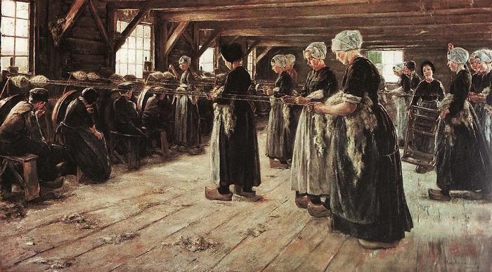 Fonónők Larenban (1887), Max Liebermann