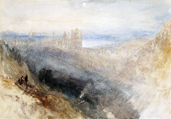 Hold Lausanne felett (színverzió 1), William Turner