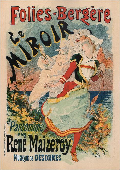 Folies Bergére Le Miroir, Jules Chéret