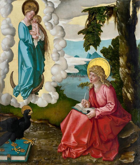 Szent János látomása Pátmosz szigetén, Hans Baldung
