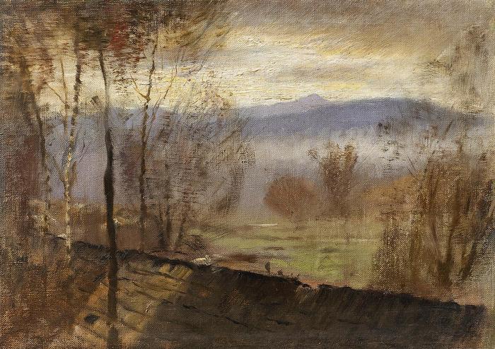 Esti tájkép folyóval, Mednyánszky László
