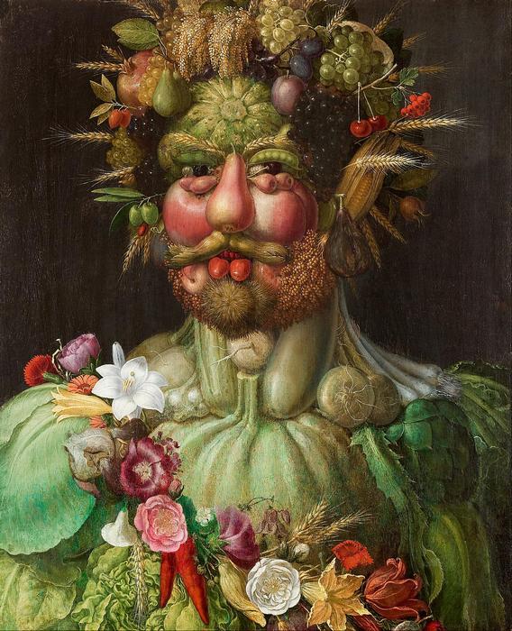 II. (Habsburg) Rudolf, mint Vertumnus, Giuseppe Arcimboldo
