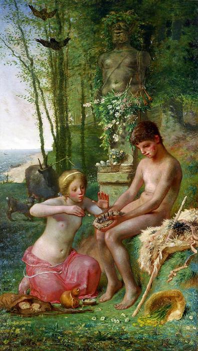 Tavasz (Daphnis és Chloe) - színverzió 1, Jean-François Millet