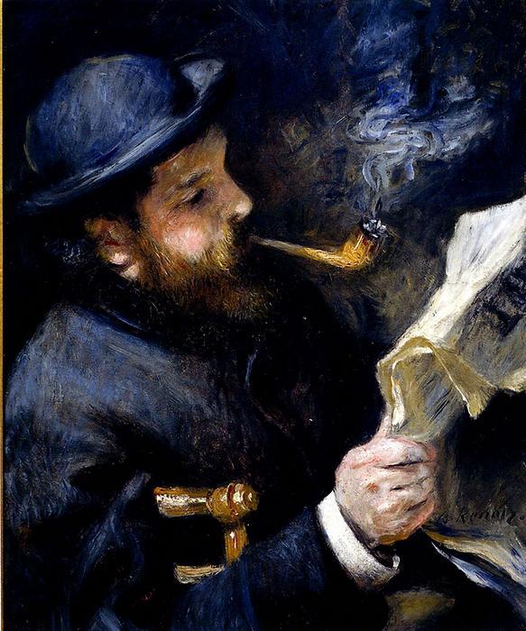 Claude Monet újságot olvas, Pierre Auguste Renoir