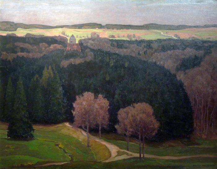 Vidéki táj (színverzió 1), Max Liebermann