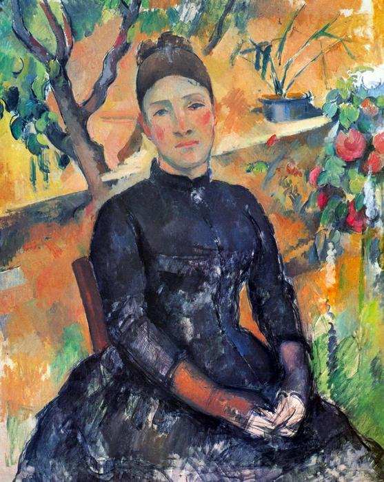 Portré Cézanne asszonyságról az üvegházban, Paul Cézanne