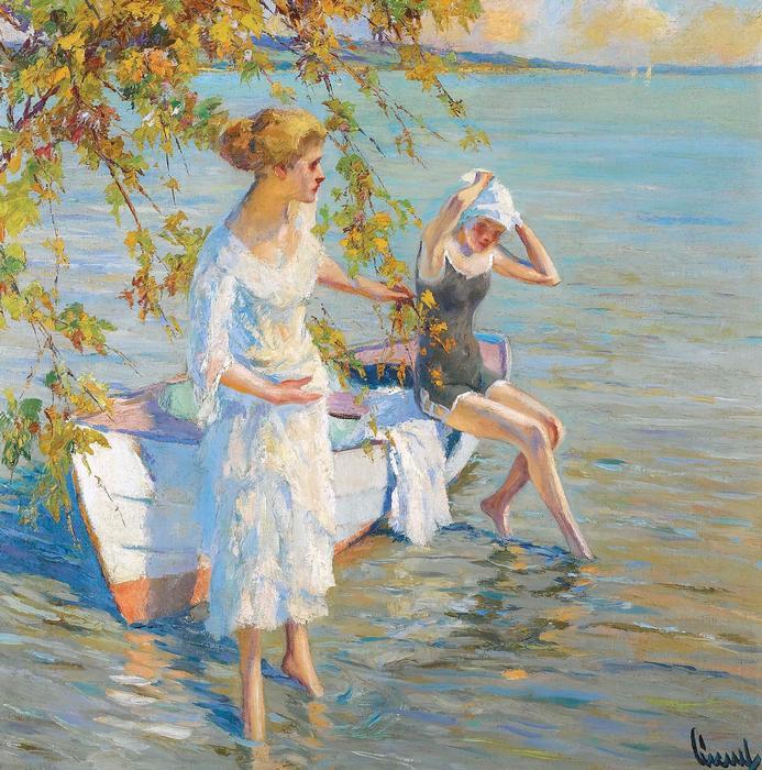 Fürdőzők, Edward Cucuel