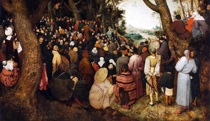 Keresztelő Szent János prédikációja (színverzió 1.), Pieter Bruegel the Elder