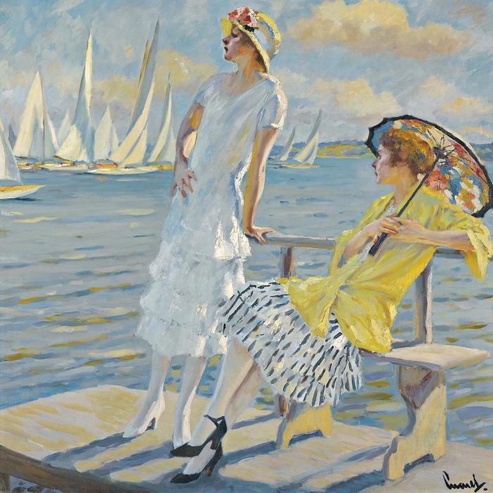Nyári regatta, Edward Cucuel